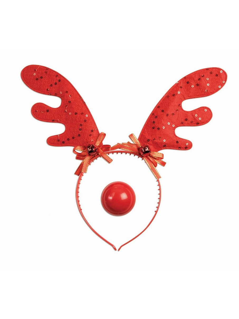 View larger image of Fun Reindeer Antlers and Light Up Nose Set