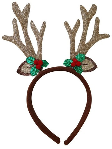 Holiday Reindeer Antler and Ear Headband