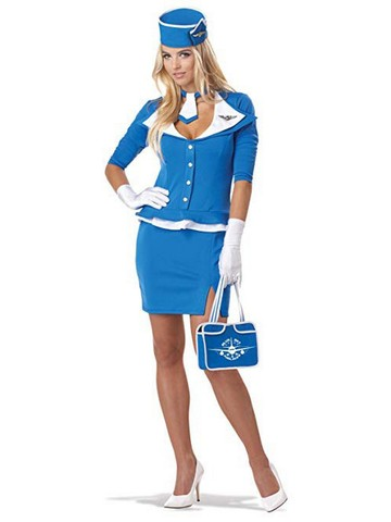 Retro Stewardess Costume for Adults