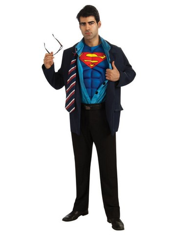 Superman/Clark Kent Reversible Adult Costume