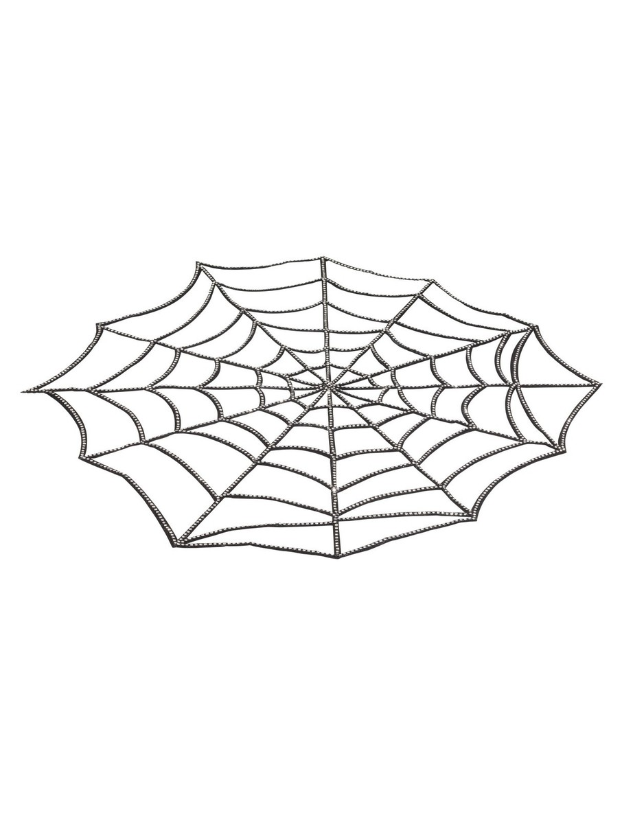 View larger image of Rhinestone Spider Web Tablecover Decoration