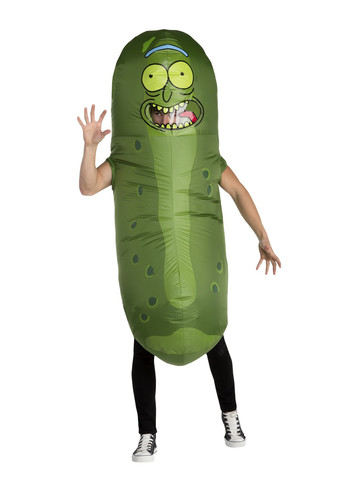 Rick & Morty Mens Pickle Rick Costume