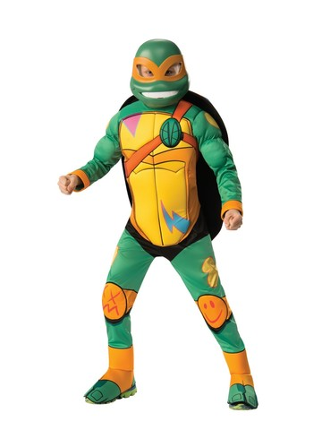 Rise Of The Teenage Mutant Ninja Turtles Deluxe Michelangelo Costume