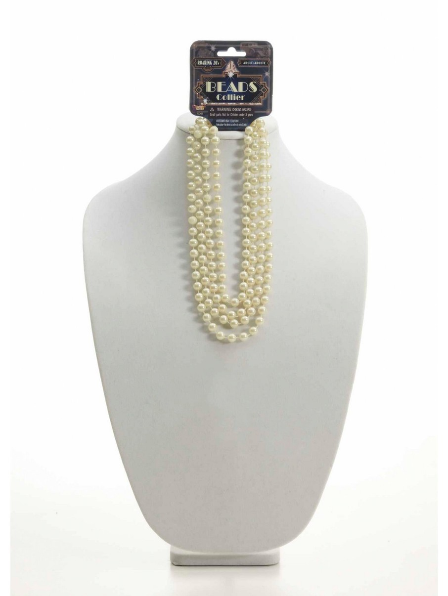 View larger image of Roaring 20s Beads 72 Beige Necklace
