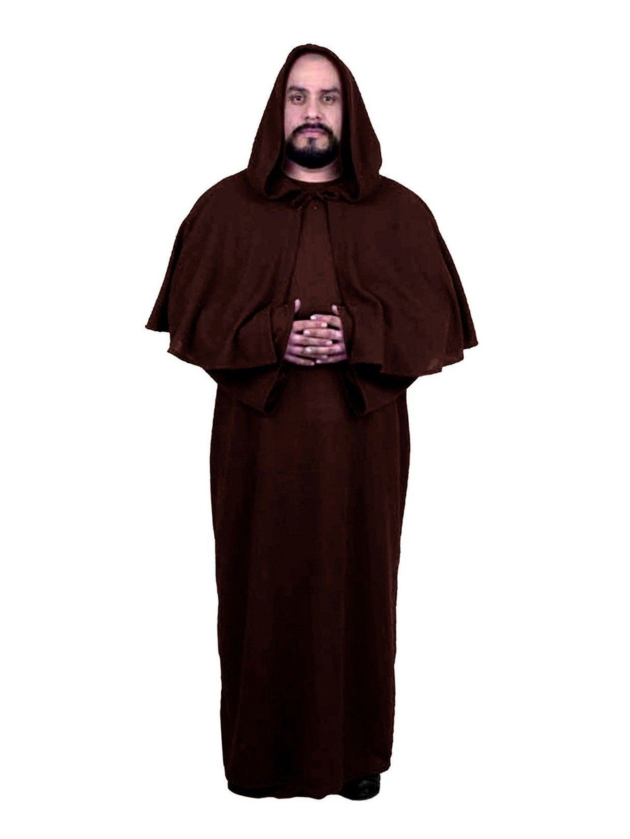 View larger image of Unisex Robe with Hooded Cape (Brown)