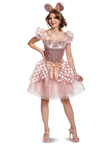 Minnie Rose Gold Deluxe Costume for Women