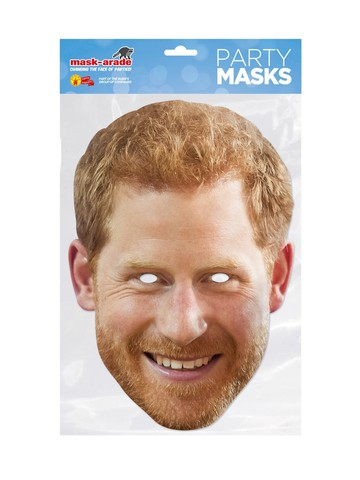 Prince Harry Royal Face Mask Costume Accessory