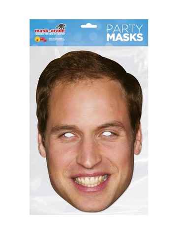 Prince William Royal Face Mask Costume Accessory