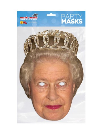 Queen Elizabeth Royal Face Mask Costume Accessory