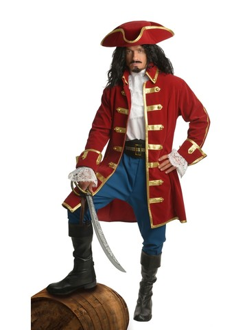 Mens Carribbean Pirate Costume Man Buccaneer Swashbuckler Fancy Dress Outfits