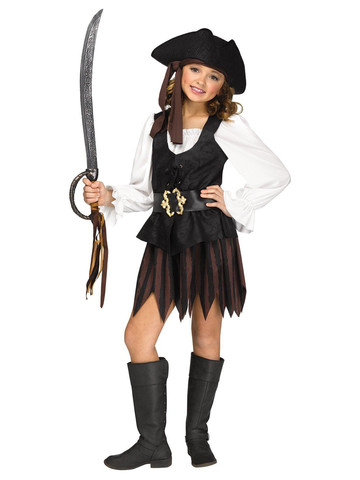 Kids Rustic Pirate Maiden Costume