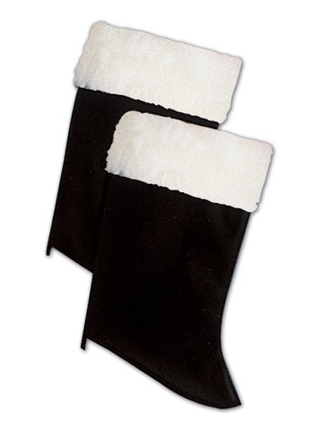 Adult Santa Boot Tops With Fur Classic