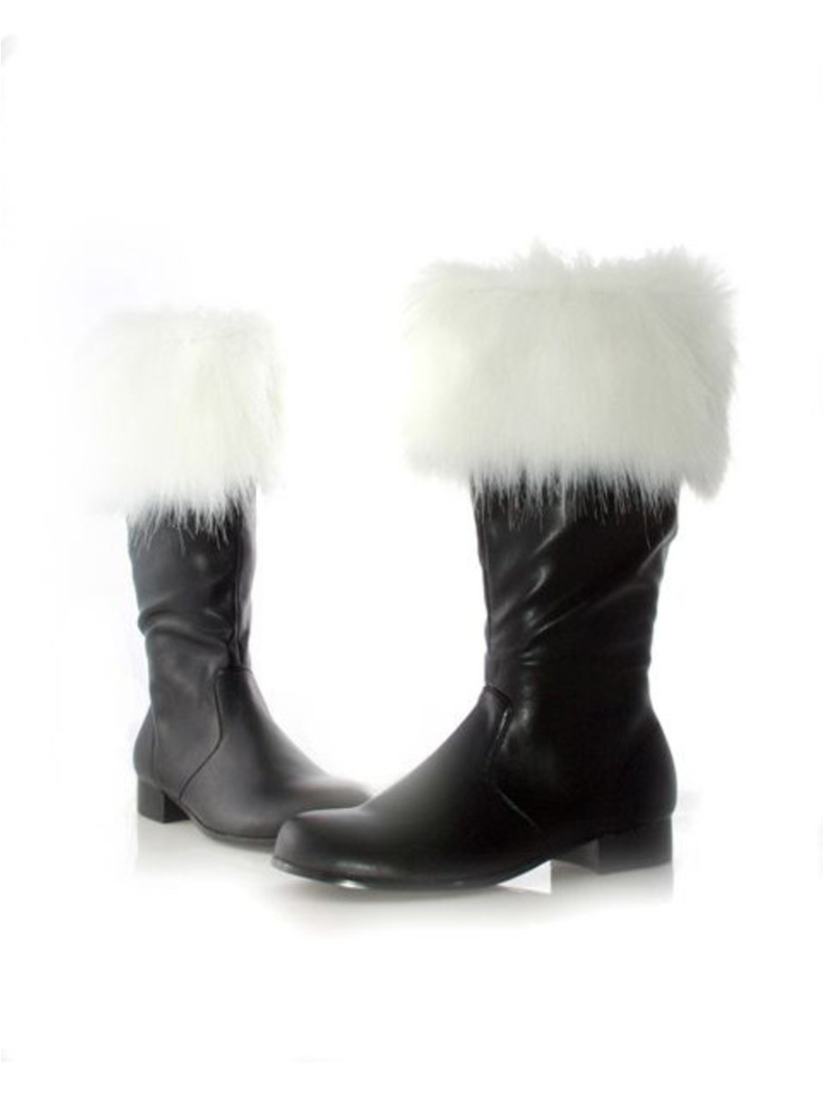 View larger image of Santa Boots with Faux Fur Adult
