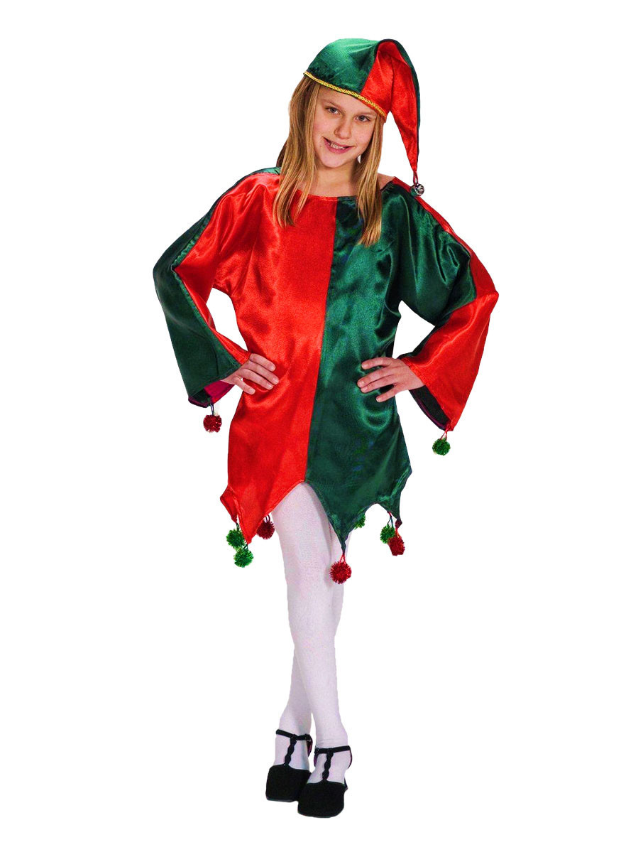 View larger image of Satin Jingle Elf Child Costume