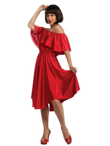 Saturday Night Disco Fever Red Dress Costume for Adults