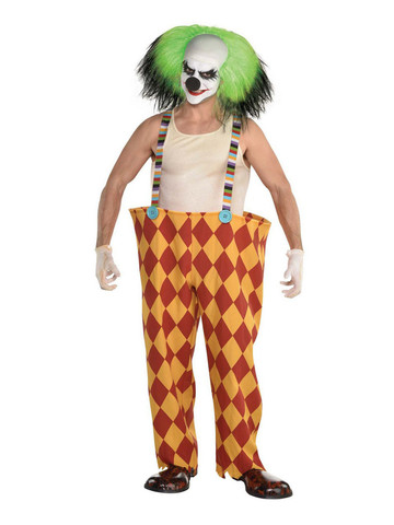 Crazy Clown Suspender Hoop Pants