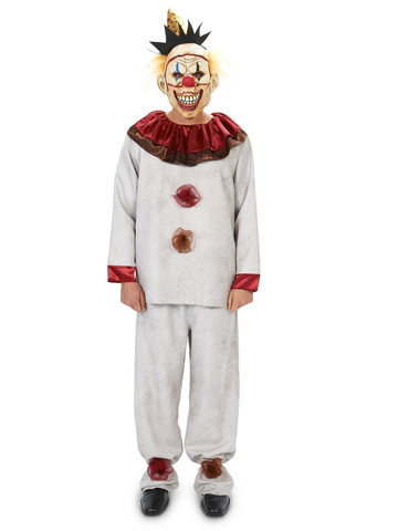 Scary the Carnival Clown with Mask Adult Costume
