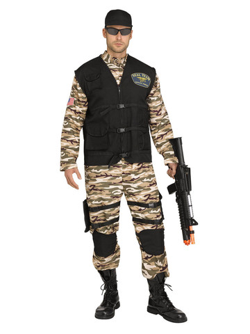 Mens Seal Fighter Commando Plus Costume