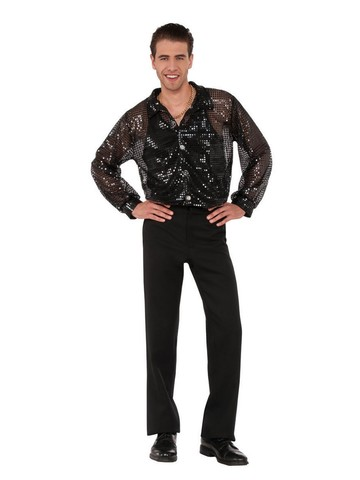 Adult Sequin Disco Shirt Costume