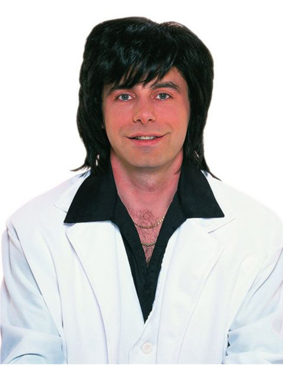 View larger image of Shag Man 1970's Black Wig