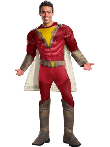 Shazam Deluxe Red Costume Adult
