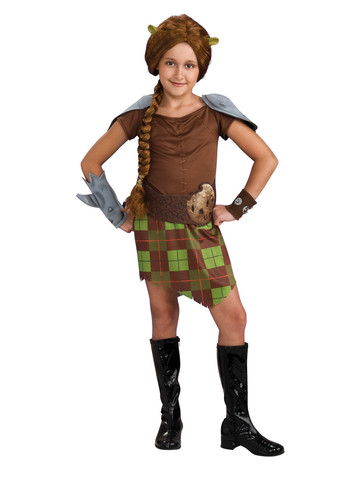 Shrek Fiona Warrior Child Costume