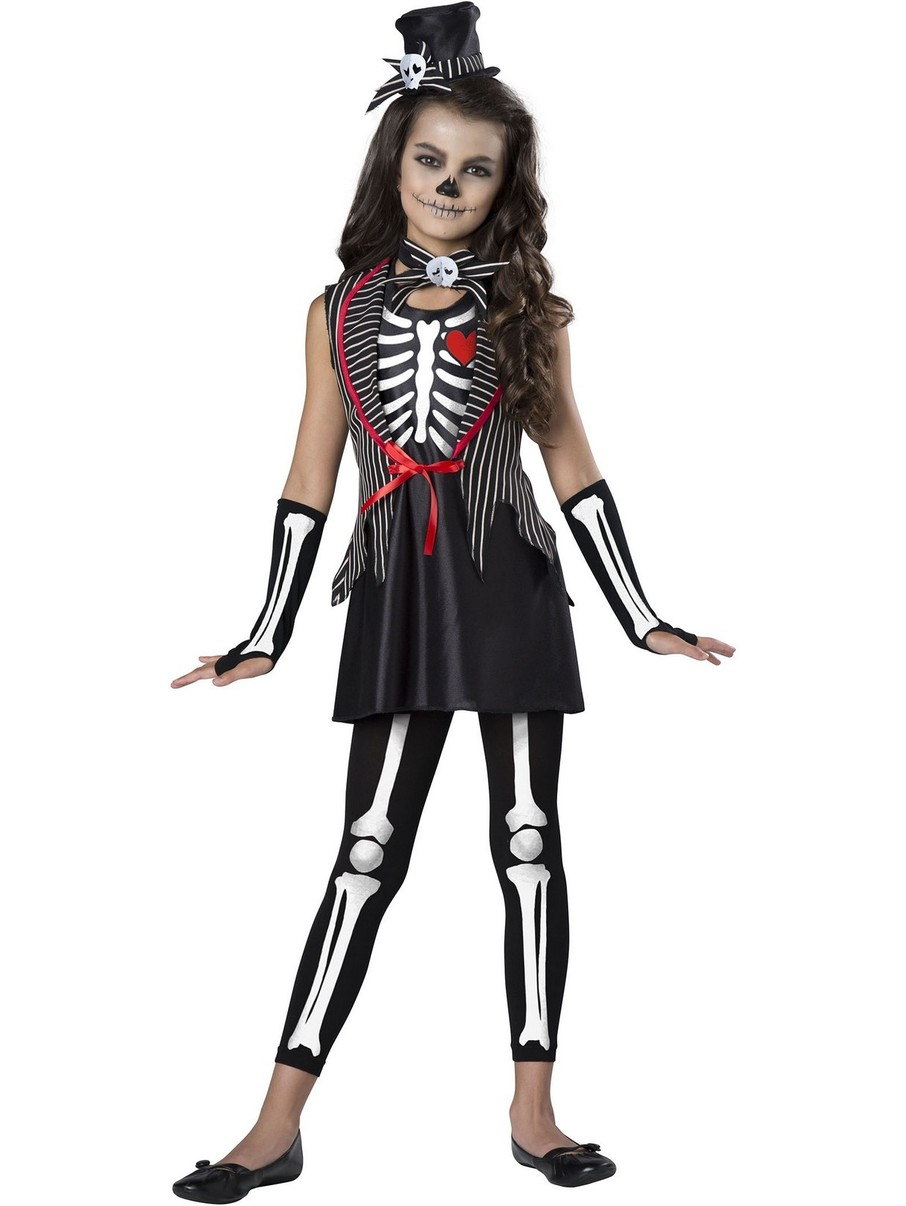 View larger image of Girls Cute Skeleton Costume