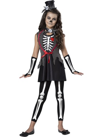 Girls Cute Skeleton Costume