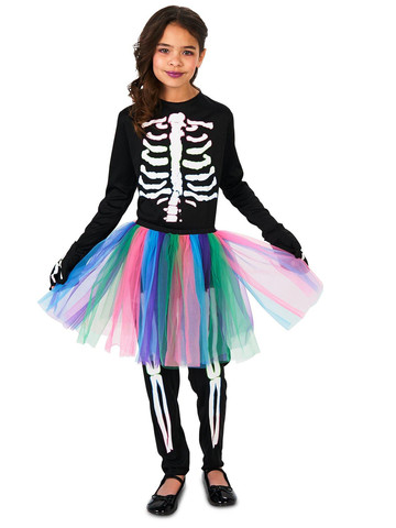 Kids Skeleton Tutu Costume