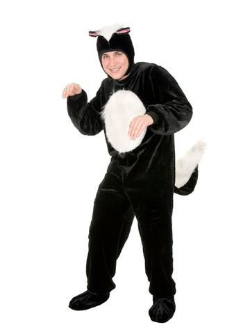 Skunk Unisex Micro Fiber Costume for Adults