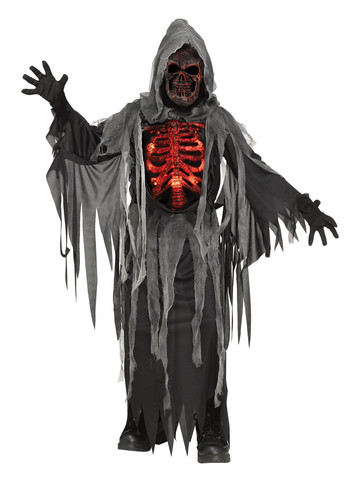 Light Up Smoldering Chest Reaper Child Costume
