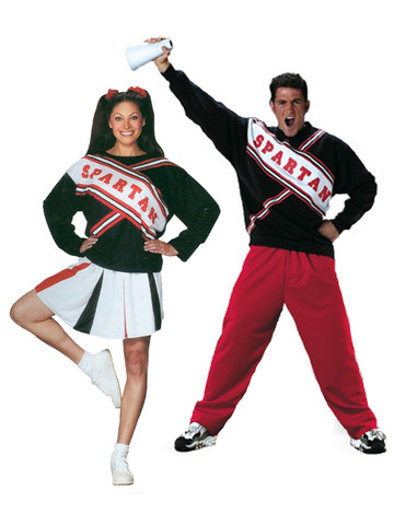 SNL Spartan Cheerleaders Adult Couples Costume