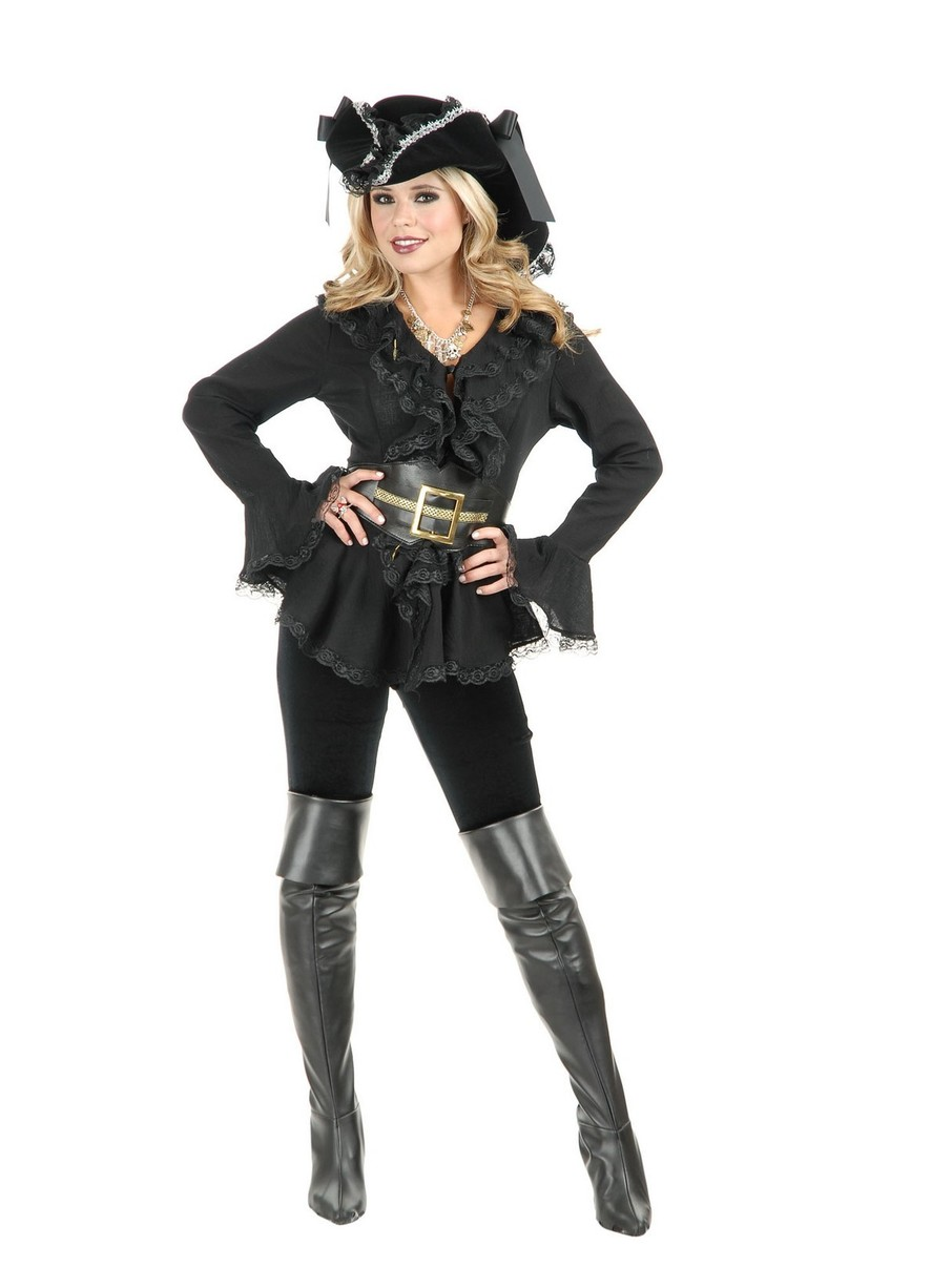 View larger image of Adult South Seas Blouse Black