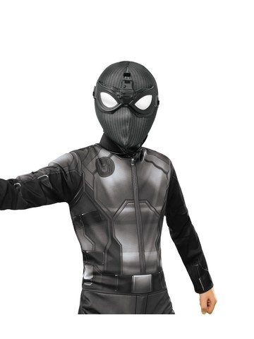 Spider-Man: Far From Home Deluxe Child Spider-Man Stealth Fabric Mask With Molded Goggles Accessory
