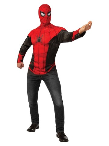 Spider-Man FFH Red & Black Costume Top
