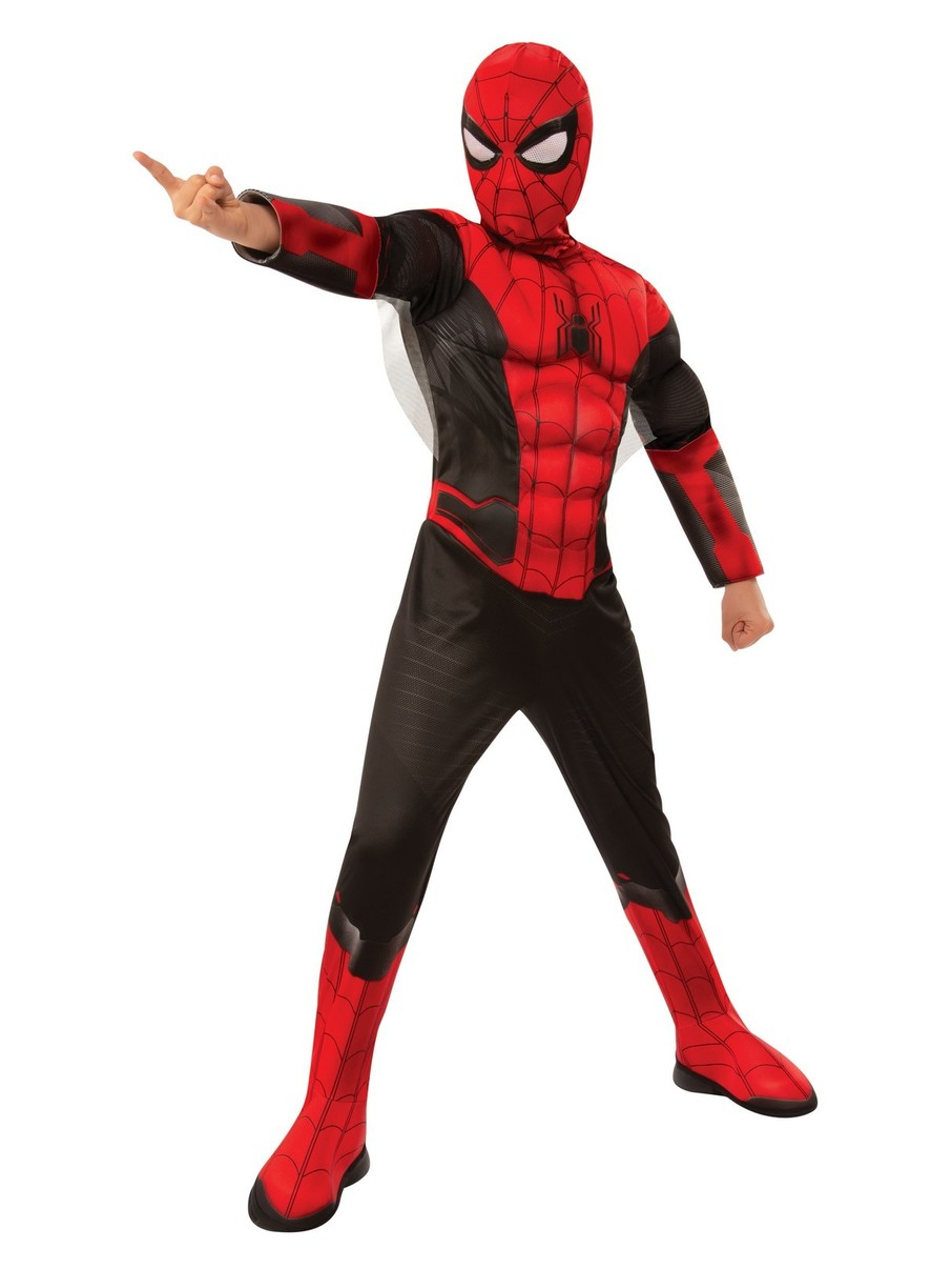 View larger image of Spider-Man FFH Deluxe Red & Black Costume For Kids