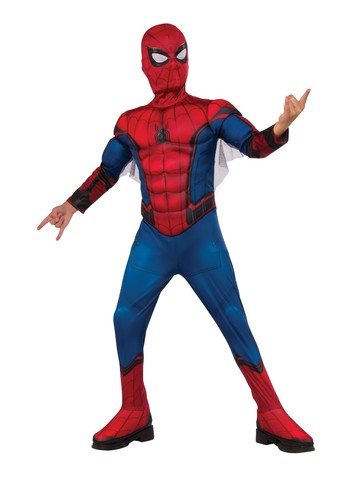 Spider-Man FFH Red & Blue Deluxe Costume For Kids