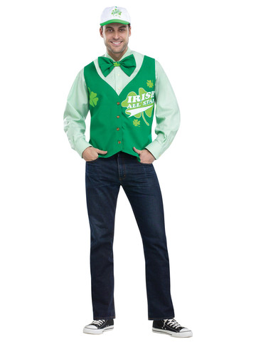 St. Patrick's Day All Star Vest Hat and Tie Set Deluxe