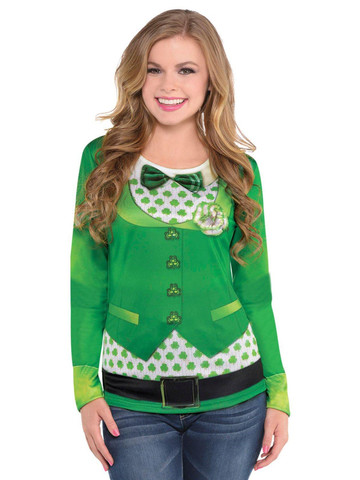 Womens St. Patrick's Day Long Sleeve Top