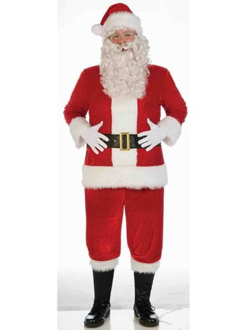Deluxe Red Santa Velvet Suit Costume