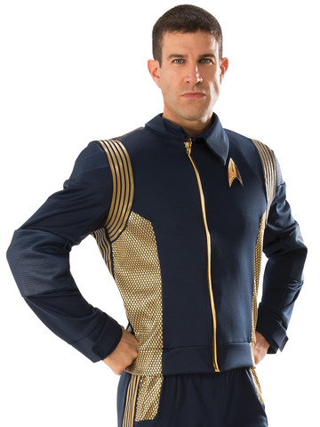 Star Trek Discovery Gold Command Mens Deluxe Uniform