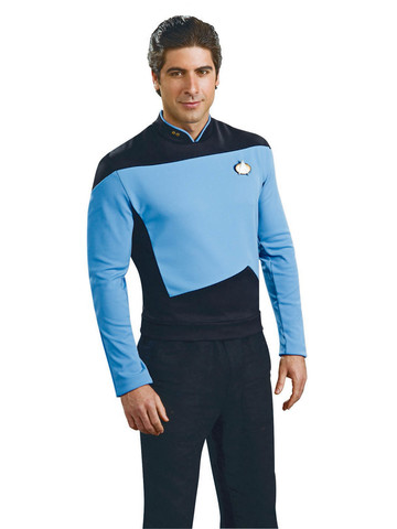 Star Trek: The Next Generation - Deluxe Science Blue Shirt - Adult Costume