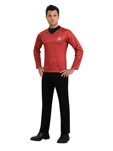 Adult Mens Red Shirt Costume - Star Trek