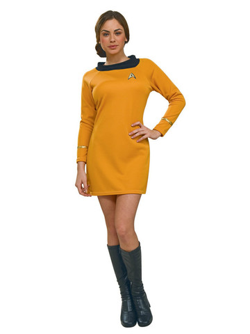 Star Trek - Deluxe Classic Commander Gold Dress - Adult Womens Costume