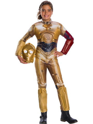 Star Wars Classic The Force Awkens Girls Deluxe C-3Po Costume