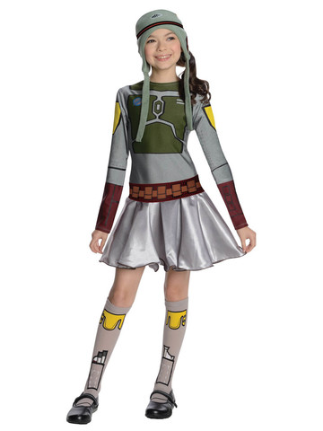 Boba Fett Star Wars Costume Dress for Kids