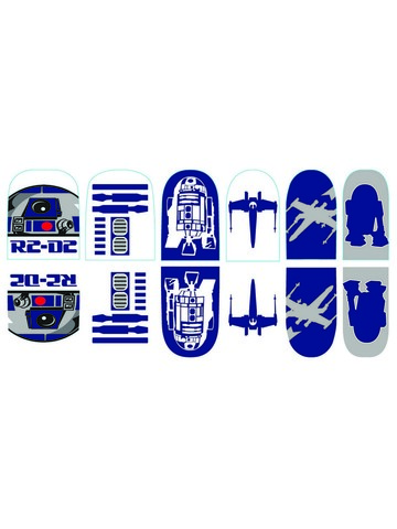 Star Wars - R2D2 - Nail Stickers