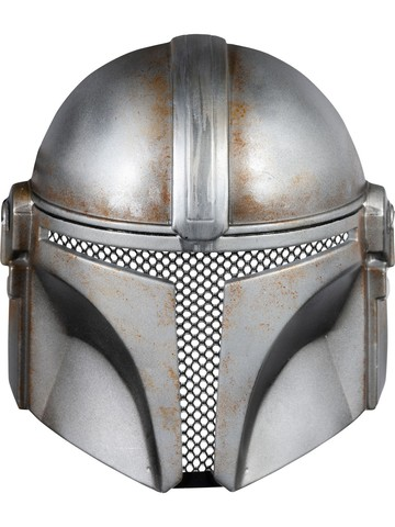 Battle Damaged Star Wars The Mandalorian 1/2 Mask for Adult