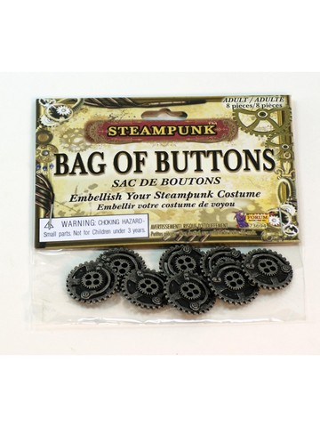 Steampunk Buttons Classic 8 Pieces