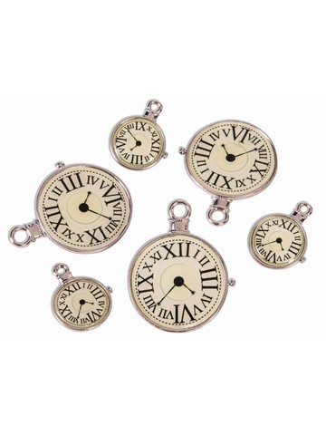 Steampunk Clock Charm Pack (6)